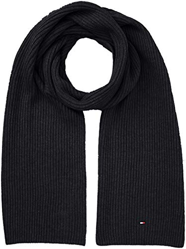 New Mens Tommy Hilfiger Grey Pima Cashmere Cotton/Acrylic Scarf Scarves