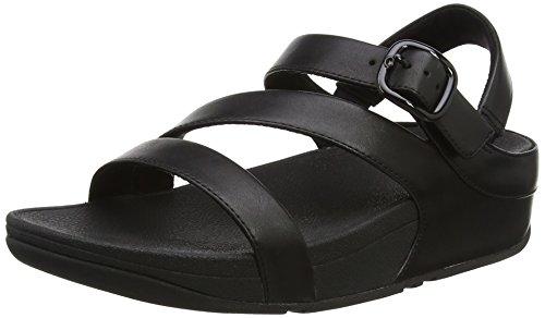 FitFlop Damen The Skinny II Back-Strap Sandals Peeptoe, Schwarz (Black 1), 36 EU (Triple Strap)