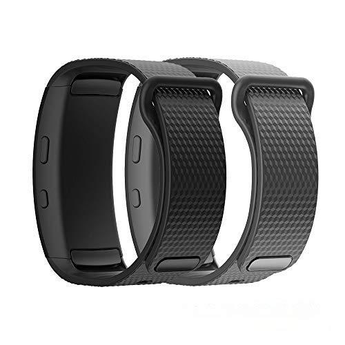 TOPsic Armband für Samsung Gear Fit2 / Gear Fit 2 Pro Armband, Ersatz Silikon Armband Armband Uhrenarmband für Gear Fit 2 Pro SM-R365 / Gear Fit2 SM-R360 Smartwatch - X S Uhrenarmbänder Gear Für Große