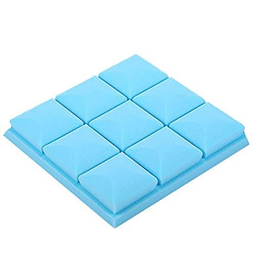 Adh-schaum (TOOGOO 25X25X5 cm Tapete Aufkleber Praktische Akustik schaum platte ton Stop Absorption Schwamm Studio Ktv Wohnzimmer Bar Schalldicht Solide Schwamm 3D Wand aufkleber (blau))