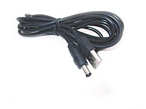 Kingfisher Technologie 2m USB 5V 2A PC Schwarz Ladegerät Power Kabel Adapter (22AWG) für Petrainer pet998db1Dog Trainer Empfänger Halsband (Halsband-empfänger)