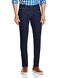 Wrangler Mens Vegas Skinny Fit Jeans(8907222653019_W15314W2298B_32W x 33L_Black Rinse)