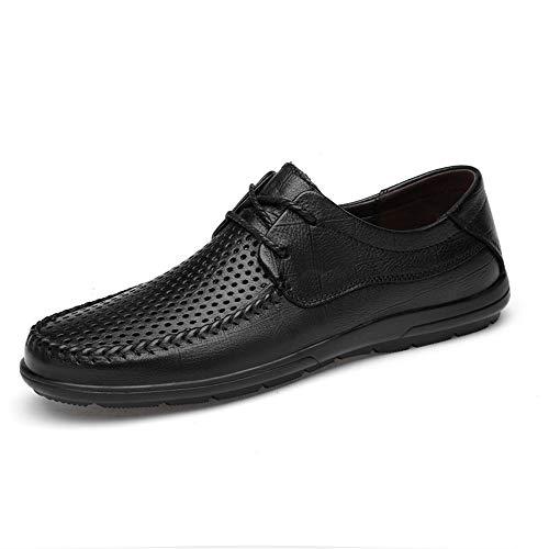 Casual Suede Shoe Herren Driving Loafers Echtes Leder Perforiert Atmungsaktiv Klassisch Business Kleid Dating Fashion Schuhe Vegan Flache Schnürschuhe Herren Sneaker -