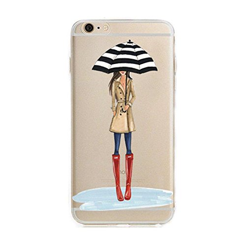 Blitz® FASHION motifs housse de protection transparent TPE SAMSUNG Galaxy trois pingouins M14 iPhone X parapluie M7