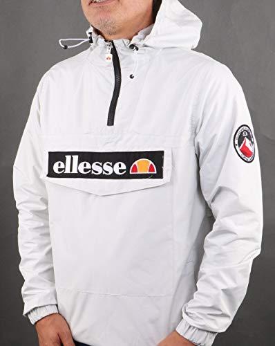 Ellesse Quarter Zip Overhead Jacket Light Grey M