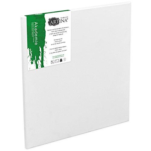 Artina Keilrahmen 80x100 cm Leinwand 100% Baumwolle auf stabilen Leisten in Akademie Qualität - weiß grundiert - 280 g/m²