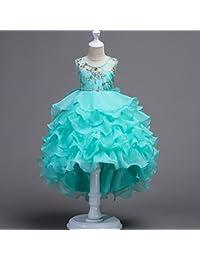 GHTWJJ Vestidos De Noche De Niña Vestido De Fiesta De Princesa De Boda para Niña Vestido De Tutú De Torta…