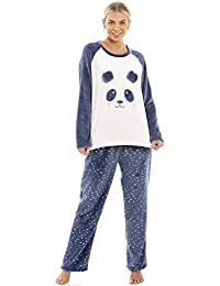3c3443fea9 Camille Various Style Womens Supersoft Warm Fleece Character Pyjama Sets