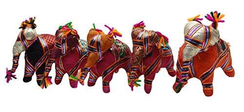 Tradicional hecha a mano relleno elefante Rajasthan Craft étnico Arte Decoración del...