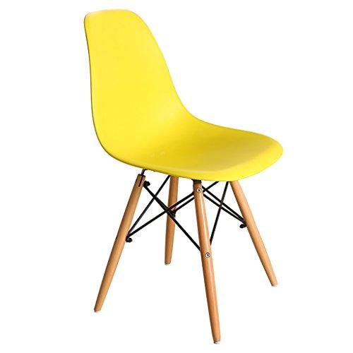 Reception Chairs Stuhl Fashion Modern Einfach Freizeit Stuhl Computer Stuhl Massivholz zurück Stuhl Schreibtisch Stuhl Esszimmerstuhl Empfang Stühle gelb - Zurück Massivholz