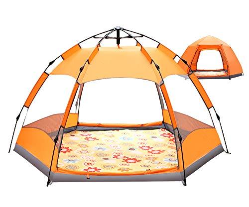 TFGY Zelt, 3-5 Personen Zelt - Sechseckiges Zelt - Automatisches offenes Zelt - Outdoor-Ausrüstung