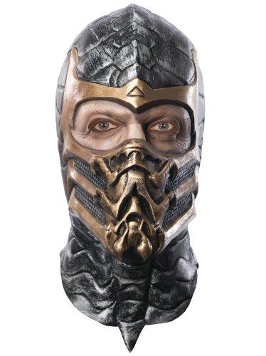 Mortal Kombat Skorpion Delux Maske für Erwachsene Latex Maske