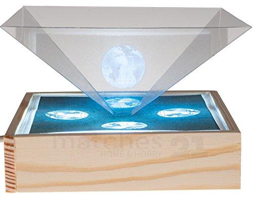 matches21 3D Hologramm Box für Smartphones inkl. USB Anschluss als Bausatz Werkset Bastelset für Kinder ab 10 Jahren (Mobile Werkzeug Box)