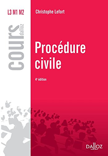 Procédure civile - Réimpression - 4e éd.: Cours