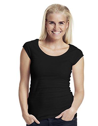 -Neutral- Ladies Roundneck T-shirt, 100% Bio-Baumwolle. Fairtrade, Oeko-Tex und Ecolabel zertifiziert, Textilfarbe: schwarz, Gr.: 2XL (T-shirt Baumwolle Jersey 100%)
