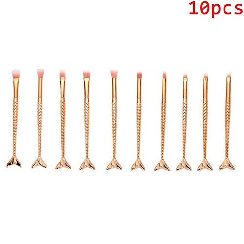 MuSheng(TM) Pinceaux Sets - 16 pcs / 15 pcs / 11 pcs / 10 pcs / 6 pcs Maquillage Fondation Sourcils Eyeliner Blush Cosmetic Concealer Brosses (10PCS)