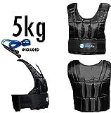 BodyRip Gewichtsweste Komfort Gepolstert 2.0 Design | Eine Grösse Passt Allen, Einstellbar, Atmungsaktives Gewebe, Abnehmbare Gewichte | Zuhause, Fitnessstudio, Übung, Fettabbau, Pilatus | 5kg