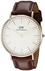 Daniel Wellington Reloj de cuarzo con negro Esfera Analógica de cuarzo de hombre (talla única), color blanco de Daniel Wellington