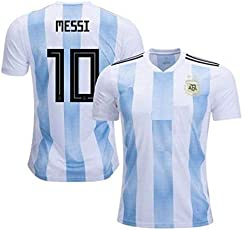Step Shoes Argentina t Shirt 2018 World Cup White/Blue(Argentina Jersey Messi Messi Tshirt
