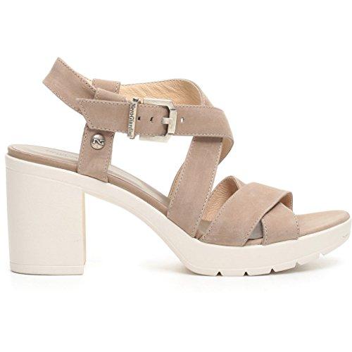 Nero Giardini donna sandali nero o beige P717750D scarpe pelle estate 2017 Beige