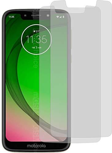 2X ANTIREFLEX matt Schutzfolie für Motorola Moto G7 Play Bildschirmschutzfolie Displayschutzfolie Schutzhülle Bildschirmschutz Bildschirmfolie Folie