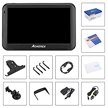 GPS-Navi-Navigation-5-Zoll-Touchscreen-8GB-256MB-Aonerex-Navigationssystem-Lebenslang-Kostenloses-Kartenupdate-das-Navigationsgert-Neueste-52-Karten-Europa-fr-Auto-LKW-PKW-KFZ