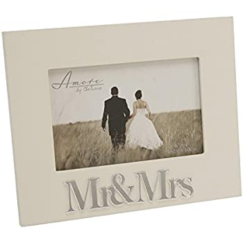 beautiful cream 3d mr mrs photo picture frame - Mr And Mrs Photo Frame