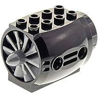Lego Technic 2 x Turbine Rotor Triebwerk 4869  alt hellgrau