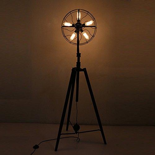 Lámpara de pie Lámpara de Piso nórdica, país Americano Retro Industrial Sencillo...