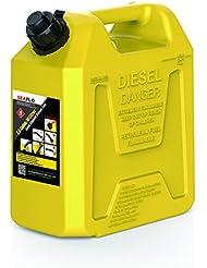 Depósito de combustible Seaflo–1,8kg amarillo plástico 5.3Gallon 20litros apagado automático de combustible latas