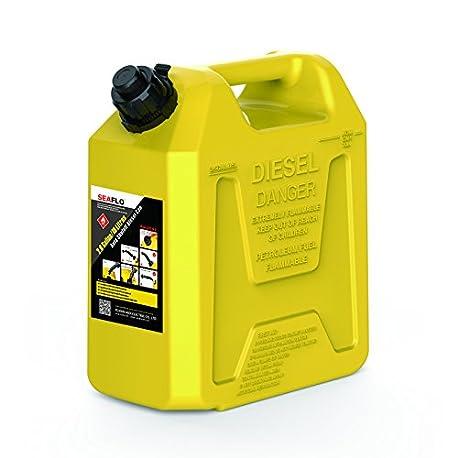 Dep sito de combustible Seaflo 1 8 kg amarillo pl stico 5 3 Gallon 20 litros apagado autom tico de combustible latas
