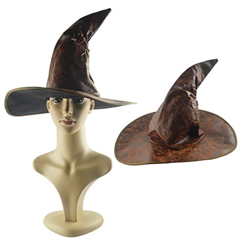 Amcool Neu Halloween Hexe Hut Hexe Kostüm Zubehör für Halloween Weihnachtsfeier, Schwarz