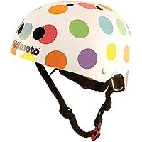 Kiddimoto 2kmh023s Design Sport Helm Pastel Dotty/Pünktchen bunt Gr. S, für Kopfumfang 48-53cm (2-5 Jahre)