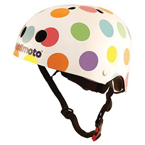 kiddimoto 2kmh023s - Design Sport Helm Pastel Dotty, Gr. S für Kopfumfang 48-53 cm, 2-5 Jahre, pünktchen bunt