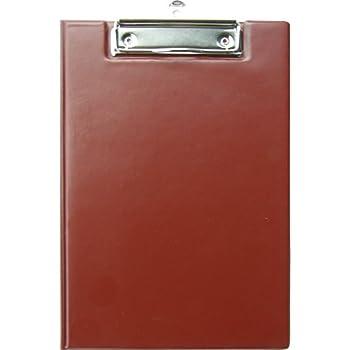 Klemmbrett für DIN A5 mit Deckel und Seitenfach Farbe