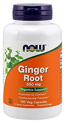 Now Foods, GINGER ROOT, 550mg x100Caps - UK Seller from Now Foods,