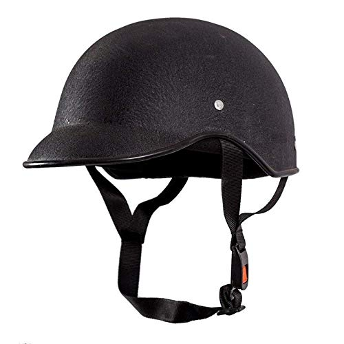 DEVEWTM All Purpose Safety Helmet with Strap (Black, Free Size)
