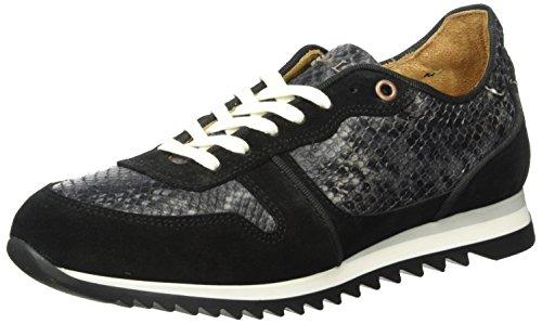 Fred de la BretoniereFred Sneaker - Scarpe da Ginnastica Basse Donna , Nero (Schwarz (Black & Black)), 38 EU