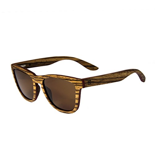 Wola rettangolare estilo occhiali da sole in legno aero donna i uomo legno, style sunglasses eyewear uv400 - polarizzati zebrano