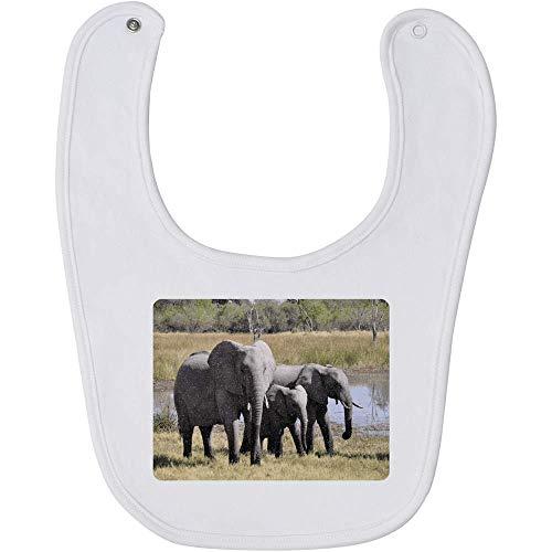 Azeeda 'Elefantes' Bebé Babero (BI00004414)