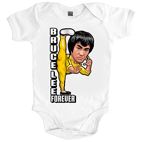 body-bebe-bruce-lee-for-ever-blanco-6-12-meses