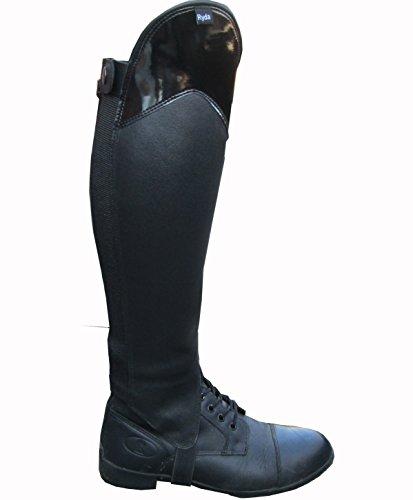 Ryda Gloss Top en cuir véritable pour femmes d'équitation Jambières Guêtres 15Tailles