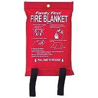 بطانية ضد الحريق - بحجم 1.2 متر في 1.8 متر - بلون ابيض