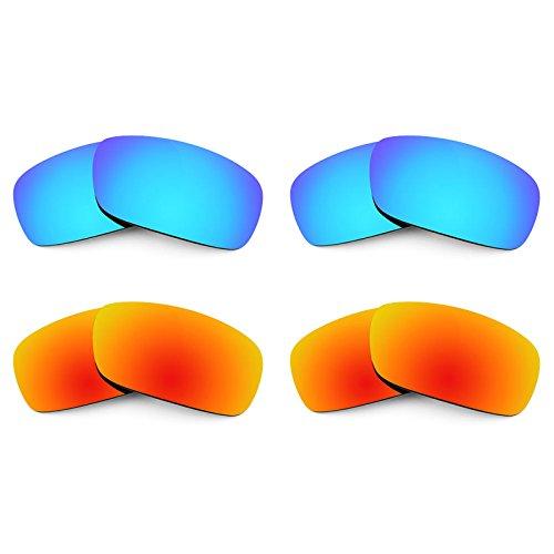 Revant Ersatzlinsen für Arnette Infamous AN4076 Polarisiert 4 Paar Kombipack K022