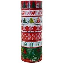 millya Weihnachten Washi Tape Papier Aufkleber für Heimwerker Art Crafts Offive Party Supplies Geschenk verpacken und Dekoration