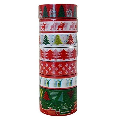 Weihnachten Washi Tape DIY Papier Aufkleber für Art Crafts Offive Home Party Supplies Geschenk Dekoration von millya