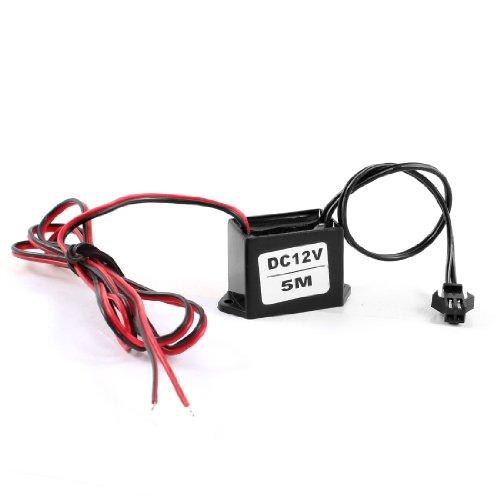 Preisvergleich Produktbild sourcingmap Rot Schwarz Kabel DC 12V Draht EL Neon-leuchten Lichtleiste Treiber-einheit Inverter
