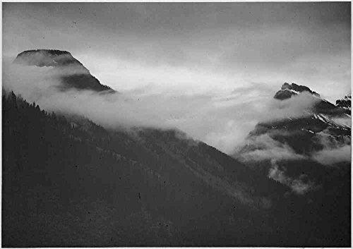 Das Museum Outlet-Adams-Glacier National Park Montana 4, gespannte Leinwand Galerie verpackt. 29,7x 41,9cm -