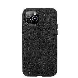 Arrivly Alcantara Cover Für iPhone 11 6,1 Zoll (2019) Schwarz Hülle Wildleder Case Handyhülle Rehleder Mikrofaser Schutzhülle (iPhone 11)
