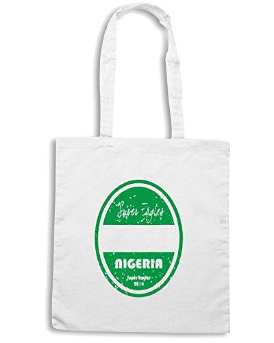 T-Shirtshock - Borsa Shopping WC0666 World Cup Football - Nigeria Bianco